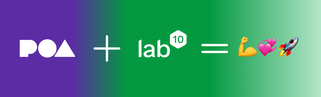 The lab10 collective Partners with POA Network